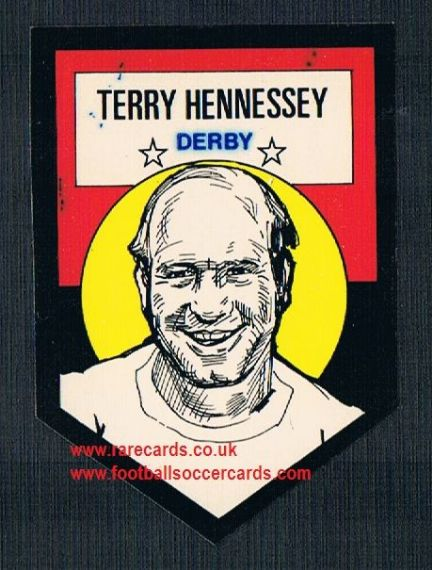 1972 BAB unused Shooting Stars Derby County Terry Hennessey